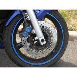 Pegatina Vinilo Rueda Wheel Stripe Azul