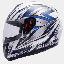 Casco MT Thunder Roadster II Blanco Brillante/Azul
