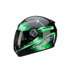 Casco Scorpion Exo 500 Air Quasar Negro Verde