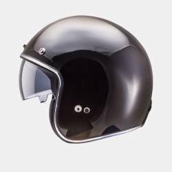 Casco Mt Le Mans Solid Negro Brillo