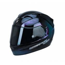 Casco Scorpion Exo 1200 Air Fantasy Negro Camaleón