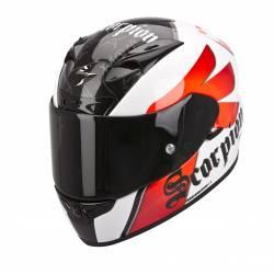 Casco Scorpion Exo 710 Air Knight Blanco Rojo