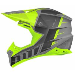Casco Off Road Mt Synchrony Spec Titanio Amarillo