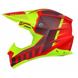 Casco Off Road Mt Synchrony Spec Rojo Amarillo
