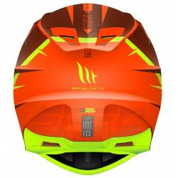 Casco Off Road Mt Synchrony Spec Naranja Amarillo