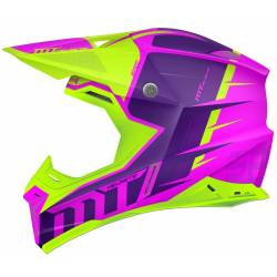 Casco Off Road Mt Synchrony Spec Fucsia Yellow