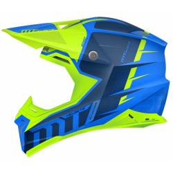 Casco Off Road Mt Synchrony Spec Azul Amarillo