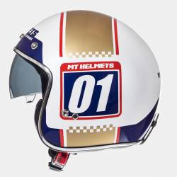 Casco Mt Le Mans Numberplate White Gold