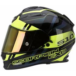 Casco Scorpion Exo 510 Air Stage Negro Amarillo