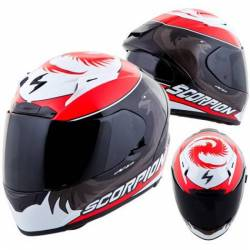 Casco Scorpion Exo 2000 Evo Air Masbou Negro Rojo