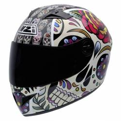 Casco Integral Nzi Must 2 Multi Mexican Skulls