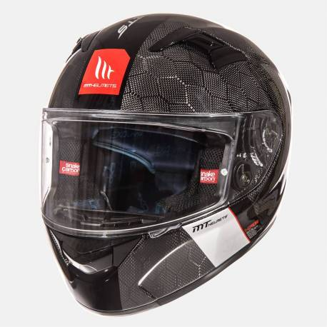 Casco Mt Fibra Kre Snake Carbon Brillo