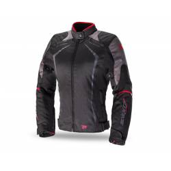 Chaqueta MT Seventy JR49 Invierno Racing Black Red Chica