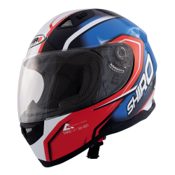 Casco Integral Shiro SH-881 Motegi Rojo Azul