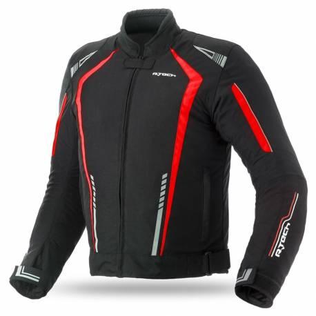 Cazadora R-Tech Marshal Textil Negra Roja