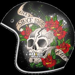 Casco Mt Le Mans Skull & Roses