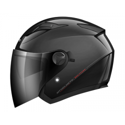 Casco Jet Mt Boulevard Negro Brillo