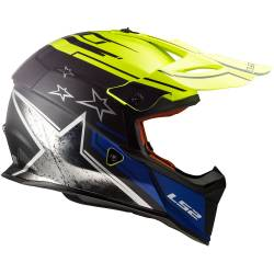 Casco de Cross Super Ligero CORE MATT BLACK H-V YELLOW