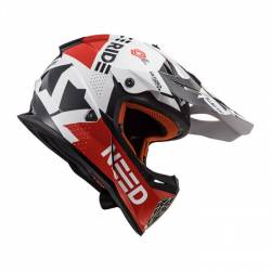 Casco de Cross Super Ligero LS2 BLOCK WHITE RED NEW