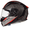 Casco Mt KRE Snake Carbon 2.0 Negro Rojo Brillo