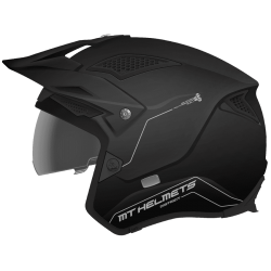 Casco Mt Trial District Sv Solid Negro Mate