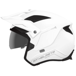 Casco Mt Trial District Sv Solid Blanco