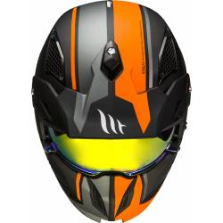 Casco Mt STREETFIGHTER SV TWIN C4 MATT FLUOR ORANGE