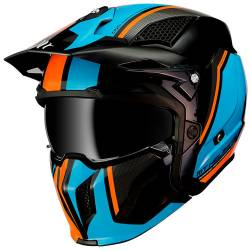 Casco Mt STREETFIGHTER TWIN A4 GLOSS FLUOR ORANGE