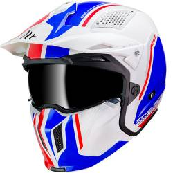 Casco Mt STREETFIGHTER TWIN B7 GLOSS PEARL BLUE