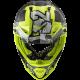 Casco OffRoad LS2 Fast Evo MX437 Crusher negro amarillo