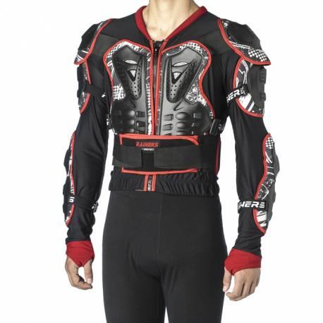 PETO Protección Moto Cross RAINERS DRAGO Negro Rojo