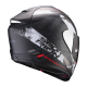 Casco SCORPION EXO 1400 AIR SYLEX NEGRO MATE ROJO