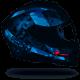 Casco SCORPION EXO 1400 AIR SYLEX NEGRO MATE AZUL