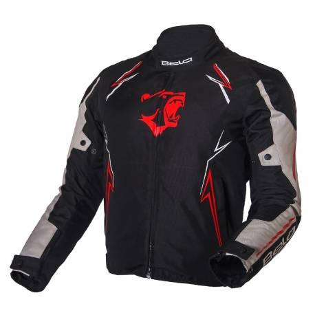 Bela Panther cazadora deportiva de moto Negra/gris/roja