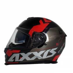 Casco Axxis integral Diagon Rojo visor solar