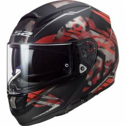 Casco integral de Fibra LS2 Matt Black Red