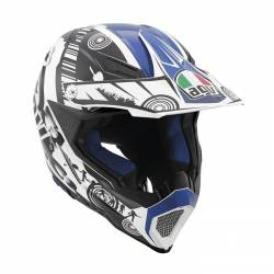 Agv Ax-8 Evo Multi Cool White Black Blue