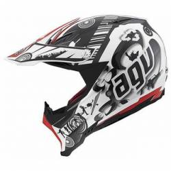 Agv Ax-8 Evo Multi Cool White Black Red